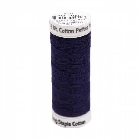 Cotton Thread 2-ply 12wt 50yds Medium Navy