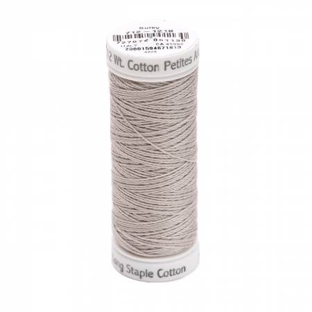 Cotton Thread 2-ply 12wt 50yds Silver Grey