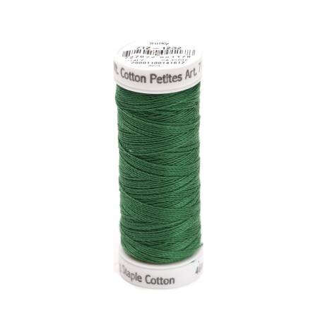 Cotton Petite Thread 2-ply 12wt 50yds Classic Green