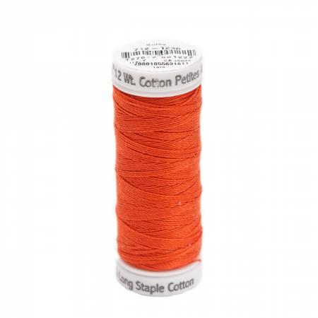 Cotton Petite Thread 2-ply 12wt 50yds Orange Flame