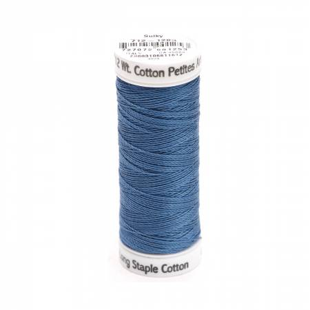 Sulky Cotton Thread 2-ply 12wt 50yds - Slate Grey