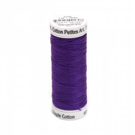 Cotton Petite Thread 2-ply 12wt 50yds Purple Shadow