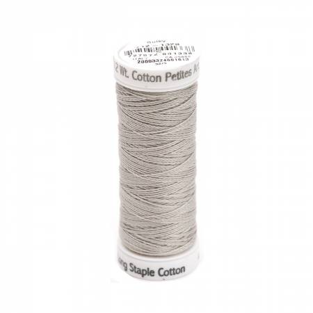 Cotton Thread 2-ply 12wt 50yds Nickel Grey