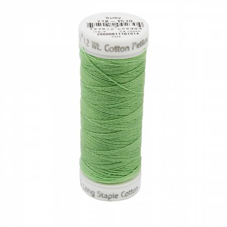 12wt Cotton Petites 50yd Lime Green