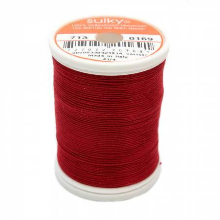 Cotton 12wt 330yd Cabernet Red