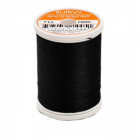 Sulky Cotton Thread 2-ply 12wt 330yds Black
