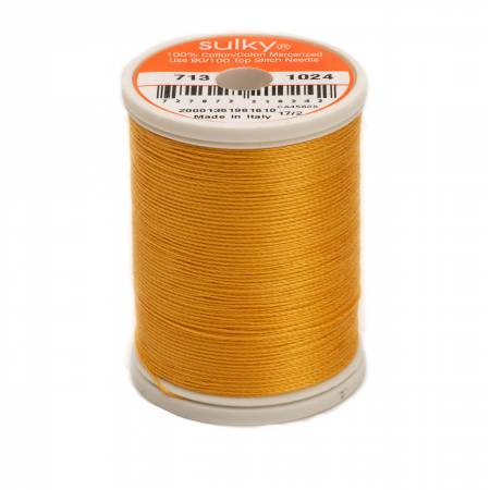Sulky Cotton Thread 2-ply 12wt 660d 330yds Goldenrod *