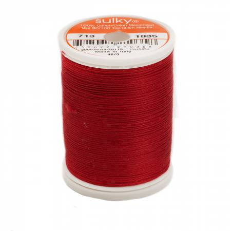 Sulky Cotton Thread 2-ply 12wt 660d 330yds Dark Burgundy *