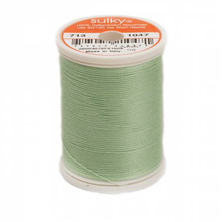 Sulky Cotton Thread 2-ply 12wt 660d 330yds Mint Green *