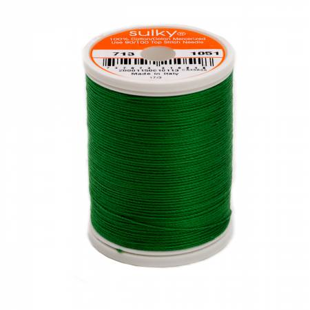 Sulky Cotton Thread 2-ply 12wt 660d 330yds Christmas Green *