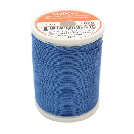 Sulky Cotton Thread - 2-Ply, 12wt, 330yds - Royal Blue
