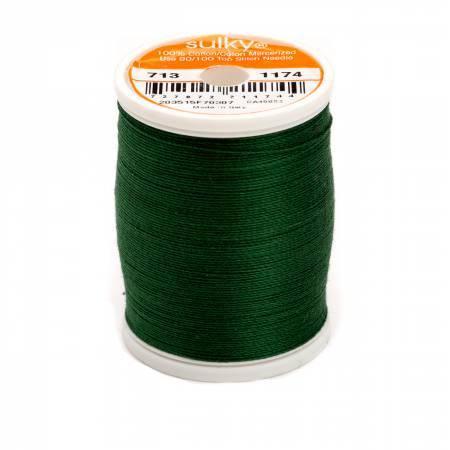 Cotton Thread 2-ply 12wt 660d 330yds Dark Pine Green