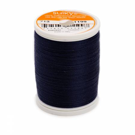 Cotton Thread 2-ply 12wt 660d 330yds Admiral Navy Blue