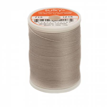 Cotton Thread 2-ply 12wt 660d 330yds Silver Grey