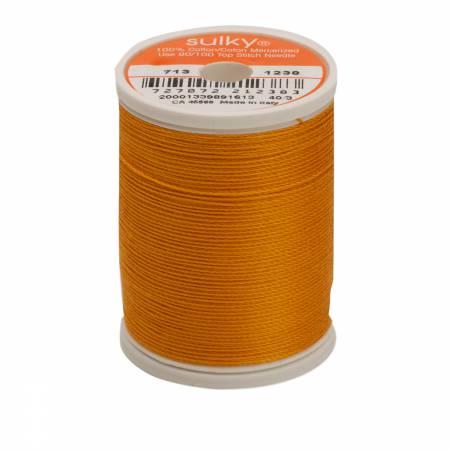 Cotton Thread 2-ply 12wt 660d 330yds Orange Sunrise
