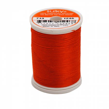 Sulky Cotton Thread 2-ply 12wt 660d 330yds Orange Flame *