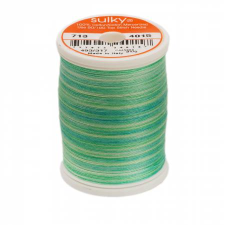 4015 Blendables Cotton Thread 2-ply 12wt 660d 330yds Cool Waters
