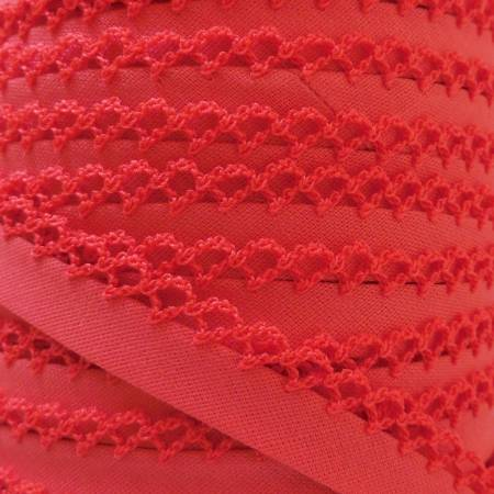 Double Fold Crochet Edge Bias Tape Solid Melon