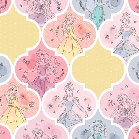 SPECIALTY FABRICS: Disney Princesses Patches: Disney Pretty Princess Patch by Springs Creative