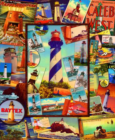 Retro Lighthouses Panel - 36xWOF
