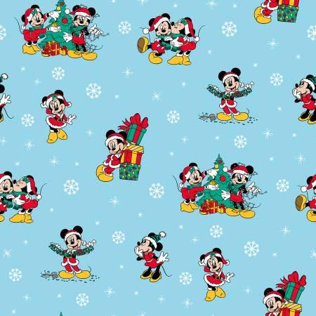 Disney Mickey & Friends Christmas Day Blue