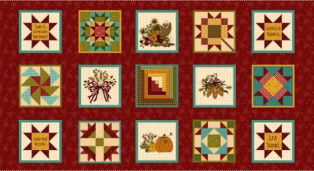 Red Harvest 6in x 6in Blocks