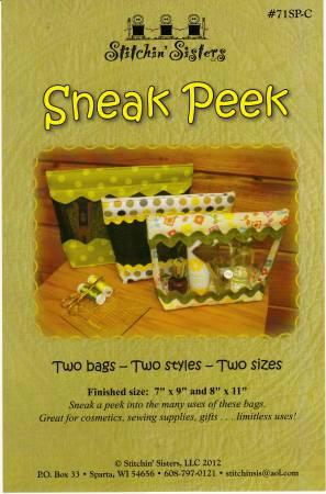 Sneak Peek Bag Pattern *