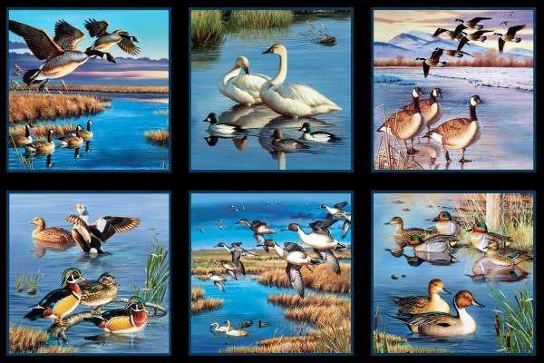 ELIZ BLACK WATERFOWL PANEL