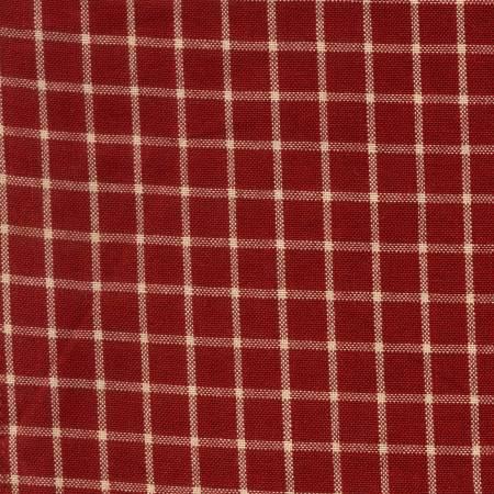 Tea Towel Reverse Window Pane Red/Teadye