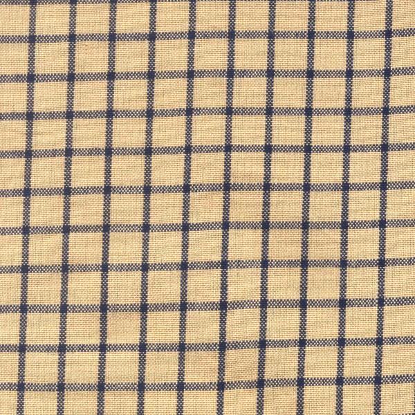 Tea Towel - Tea Dyed with Navy Window Pane