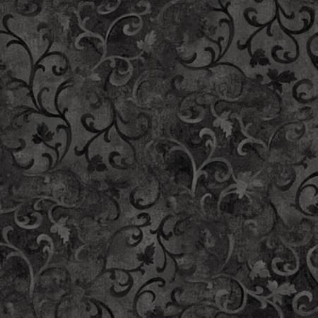 108 Black Scroll Fabric