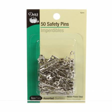 Safety Pin Nickel Size1