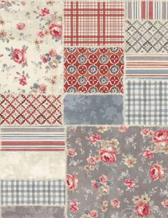 Multi Farmhouse Chic Patchwork 108in Wide Back