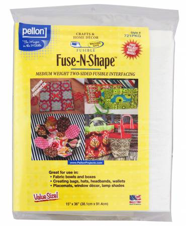 Item#0145 - Fuse N Shape Double Sided Firm Interfacing Medium 15in x 36in