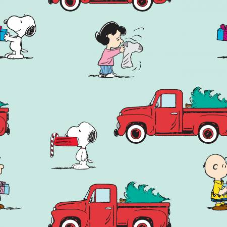 Peanuts Christmas Red Truck