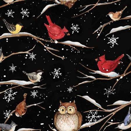 Christmas Holiday Bird Branch