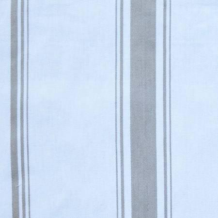 Taupe Stripe On White Tea Towel