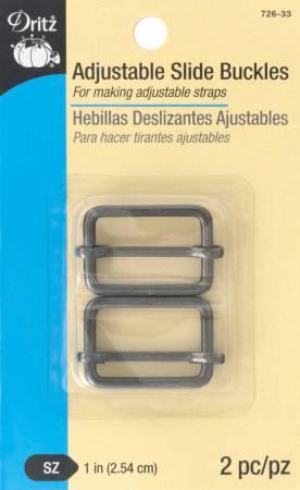 Dritz Adjustable Slide Buckles 1 (2pk) - Gunmetal