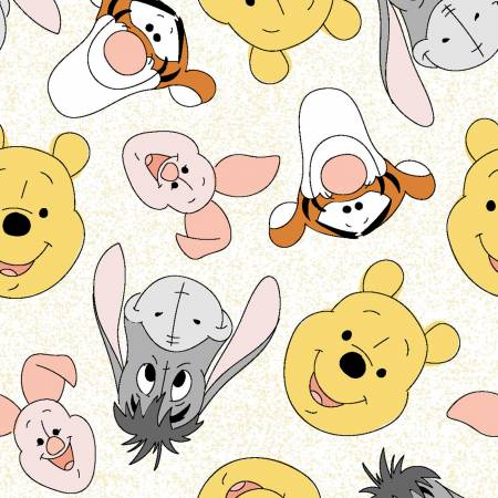 SPECIALTY FABRICS: Disney Tossed Winnie the Pooh & Friends by Springs Creative