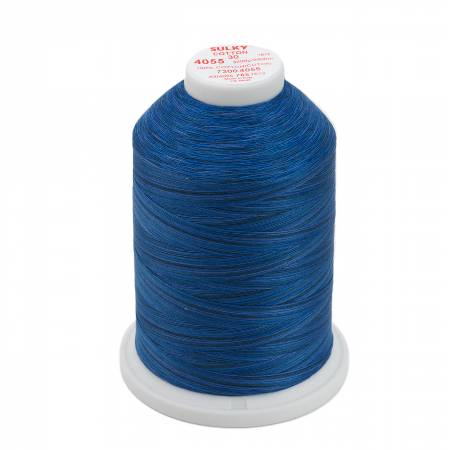Sulky Blendables Cotton Thread 30wt 3200yds 730-4055 Royal Navy