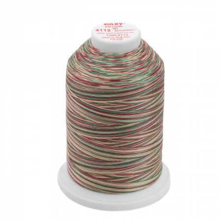 Sulky Blendables Cotton Thread 30wt 3200yds 730-4112 Vintage Holiday