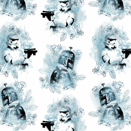 Blue Star Wars Watercolor Villains