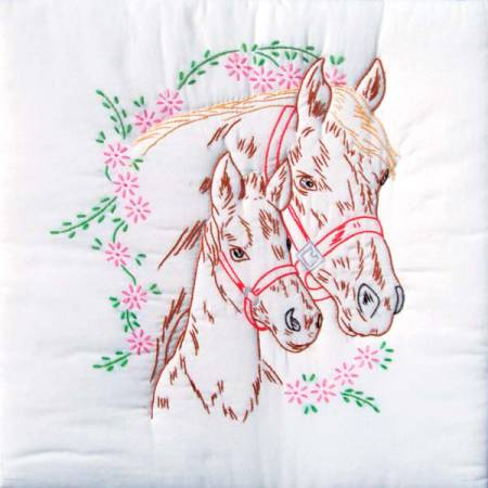 Mare & Colt Quilt Embroidery Block Set - 732-142