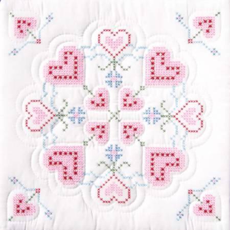 Interlocking XX Hearts Quilt Block Set