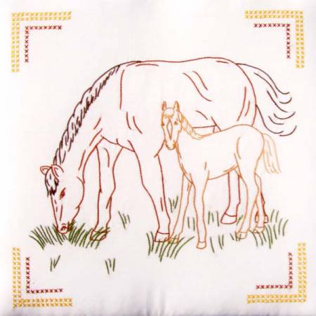Mare & Colt Quilt Embroidery Block Set - 732-207