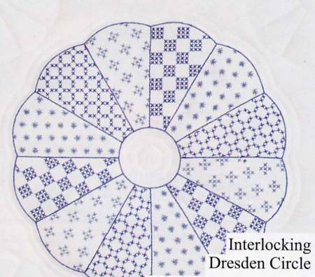 Interlocking Dresden Circle Quilt Block Set