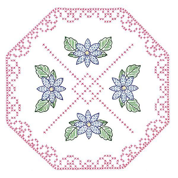 Quilt Blocks 18in Square Octagon & Flowers