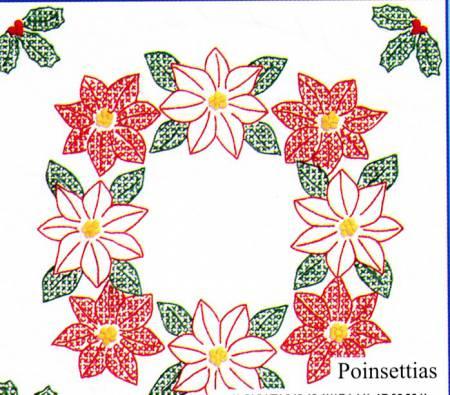 Poinsettias Quilt Block Set
