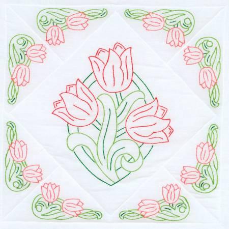 Tulips 18 Quilt Blocks