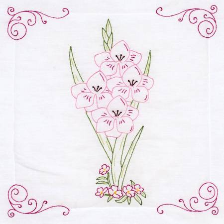 Gladiolus 18in Quilt Block